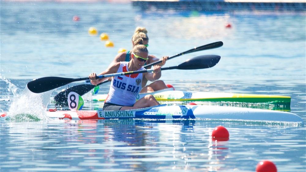 Elena Aniushina RUS At The Rio 2016 Olympic Games Canoe Sprint