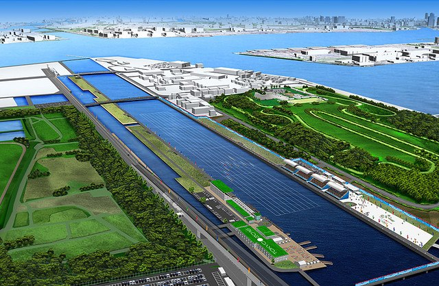 An impression of the proposed 'Sea Forest Waterway' in Tokyo Bay.